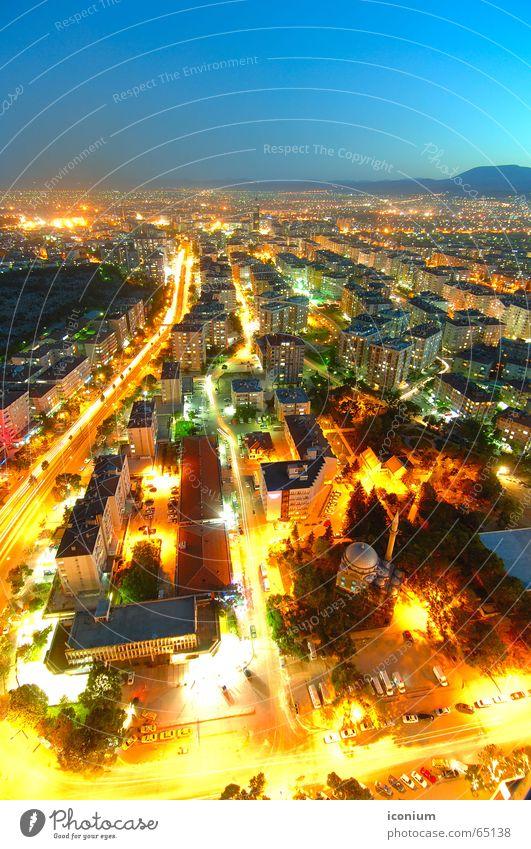 Konya City Stadt Sommer gelb Türkei Park Flughafen