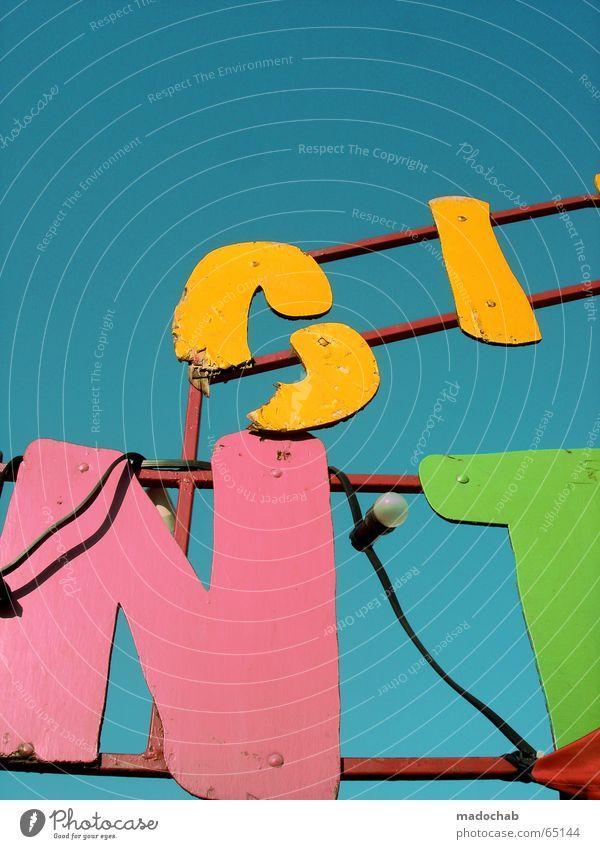 FÜR ZETT mehrfarbig Design Schilder & Markierungen frisch Schriftzeichen Buchstaben Zeichen trashig Typographie positiv Wort Zirkus Lateinisches Alphabet Werbeschild