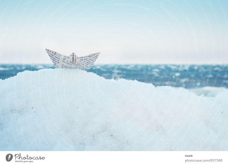 Eisbrecher Himmel Ferien & Urlaub & Reisen blau Meer Winter Umwelt Schnee Reisefotografie Spielen klein Wasserfahrzeug Freizeit & Hobby Lifestyle Kreativität