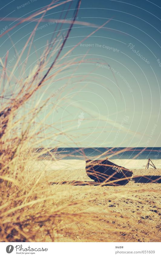 Was man nicht vergisst, geht auch nicht verloren ... Himmel Ferien & Urlaub & Reisen alt Wasser Meer Einsamkeit Erholung ruhig Winter Strand Umwelt Küste