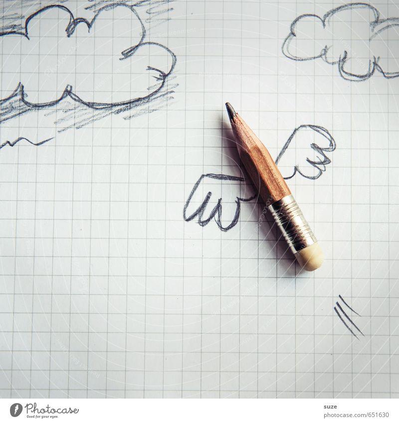 Flugbörse Schule Studium Arbeit & Erwerbstätigkeit Büroarbeit Arbeitsplatz Börse Business Karriere Wolken Flügel Schreibwaren Papier Schreibstift fliegen