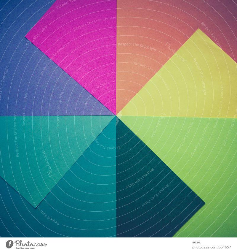 Farbpalette Stil Hintergrundbild Kunst Lifestyle Design Freizeit & Hobby Kreativität Ecke Idee retro Papier Grafik u. Illustration Freundlichkeit Kitsch