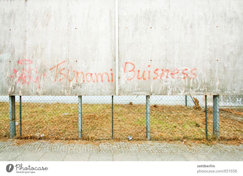Tsunami Buisness Natur Stadt Haus Graffiti Frühling Schlagwort Arbeit & Erwerbstätigkeit Business Aktion leer Schriftzeichen Textfreiraum Werbung Handel Plakat
