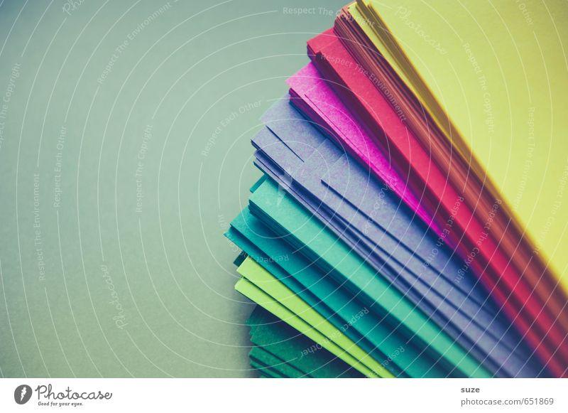 Papierwelten Stil Design Freizeit & Hobby Spielen Basteln Büroarbeit Business einfach einzigartig blau gelb grün violett rot türkis Schreibwaren Zettel Idee
