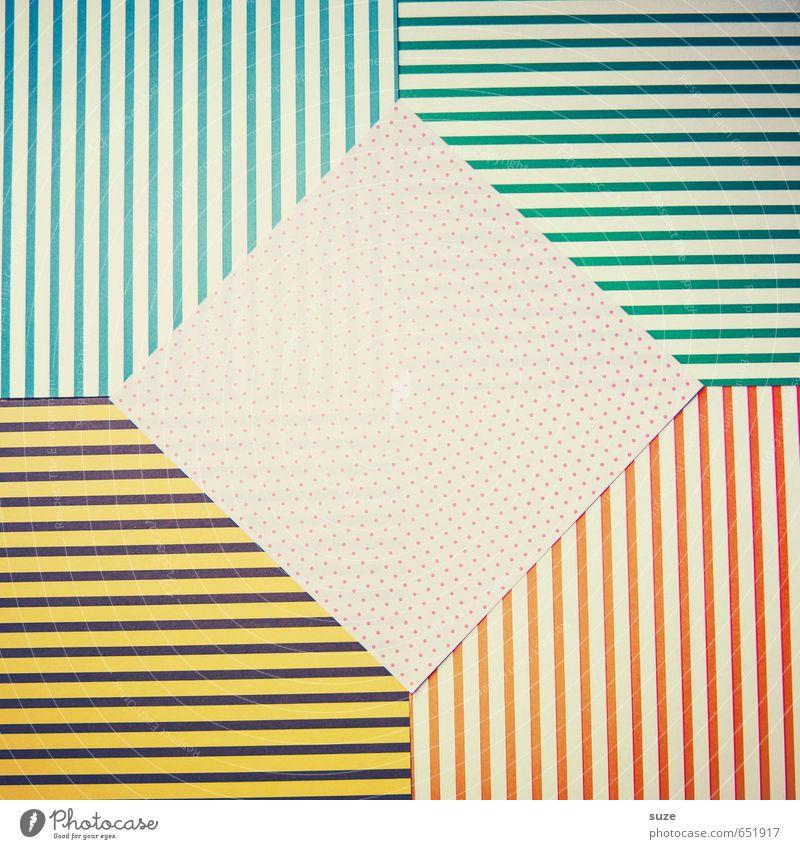 Mustafa10 Lifestyle Stil Design Freizeit & Hobby Basteln Kunst Schreibwaren Papier Verpackung Streifen Freundlichkeit Kitsch niedlich retro blau gelb grün rosa