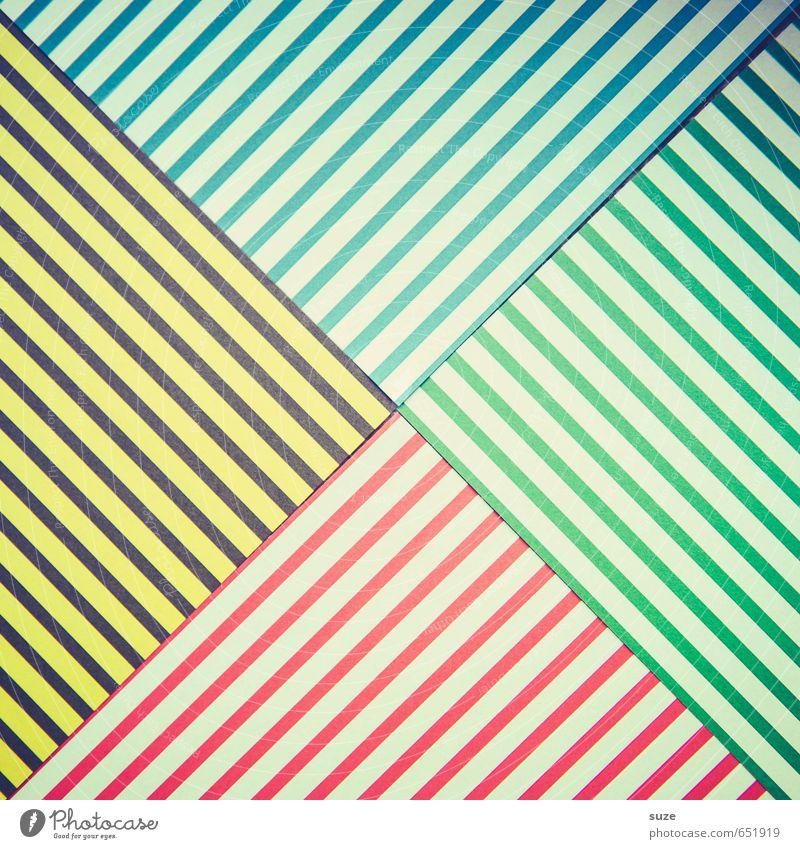 Mustafa05 Lifestyle Stil Design Freizeit & Hobby Basteln Kunst Schreibwaren Papier Verpackung Streifen Freundlichkeit Kitsch niedlich retro blau gelb grün rot