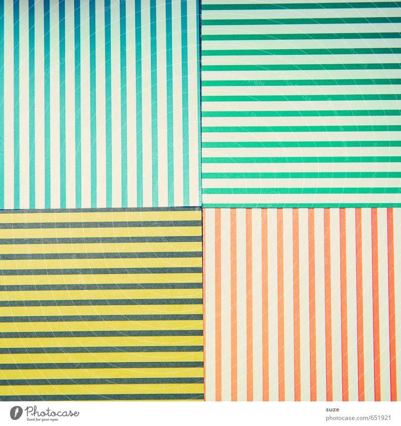 Mustafa12 blau grün rot gelb Stil Kunst Lifestyle Design Freizeit & Hobby Kreativität Idee retro einzigartig Papier Streifen Grafik u. Illustration
