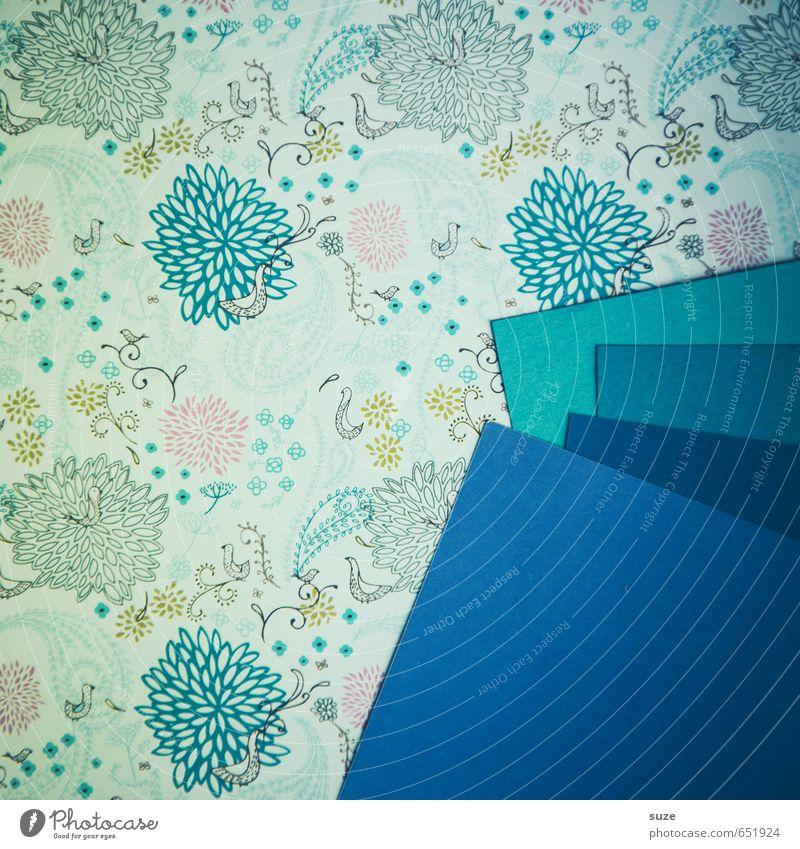 Mustafa15 blau Stil Kunst Feste & Feiern Lifestyle Design Freizeit & Hobby Geburtstag Kreativität Ecke Idee retro Papier Streifen Grafik u. Illustration