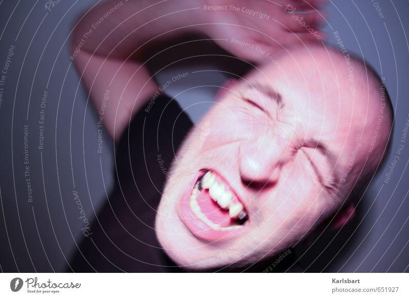 self | mir ist das alles zu eng hier Gesundheitswesen Rauschmittel Alkohol Medikament Nachtleben Feste & Feiern Tanzen Mensch Mann Erwachsene Kopf 1 schreien