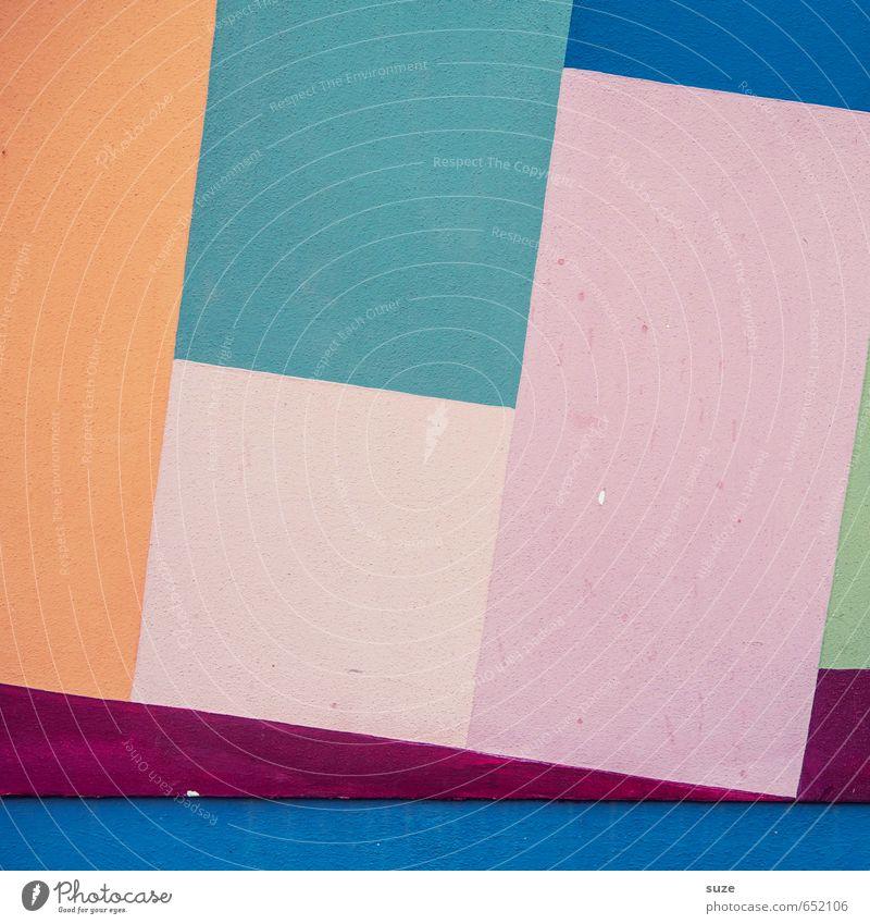 Graphic 1.0 blau rot Wand Mauer Stil Linie Kunst Hintergrundbild rosa Fassade orange Lifestyle Design Ordnung modern einfach