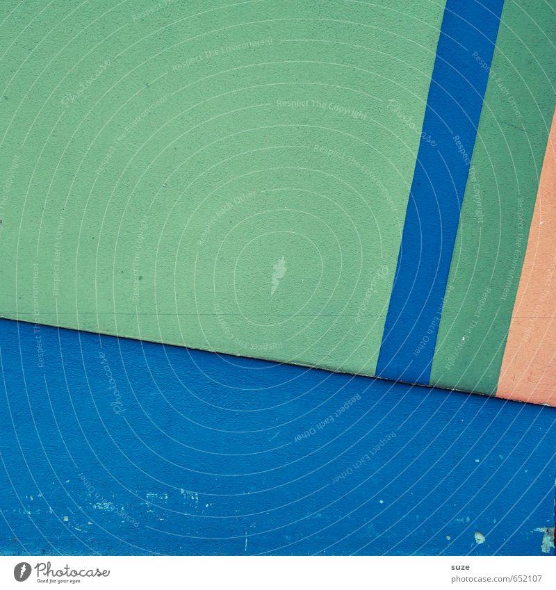 Graphic 1.3 blau grün Wand Mauer Stil Linie Kunst Hintergrundbild Fassade orange Lifestyle Design Ordnung modern einfach Kreativität