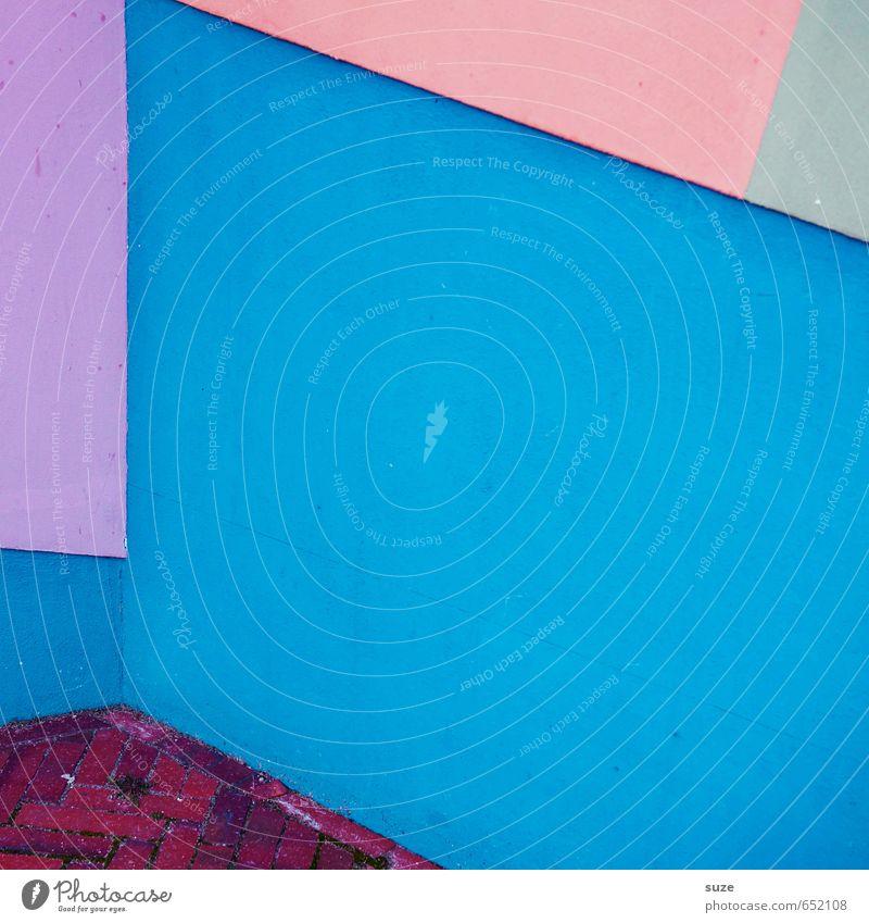 Graphic 2.4 blau grün rot Wand Mauer Stil Linie Kunst Hintergrundbild rosa Fassade Lifestyle Design Ordnung modern Ecke