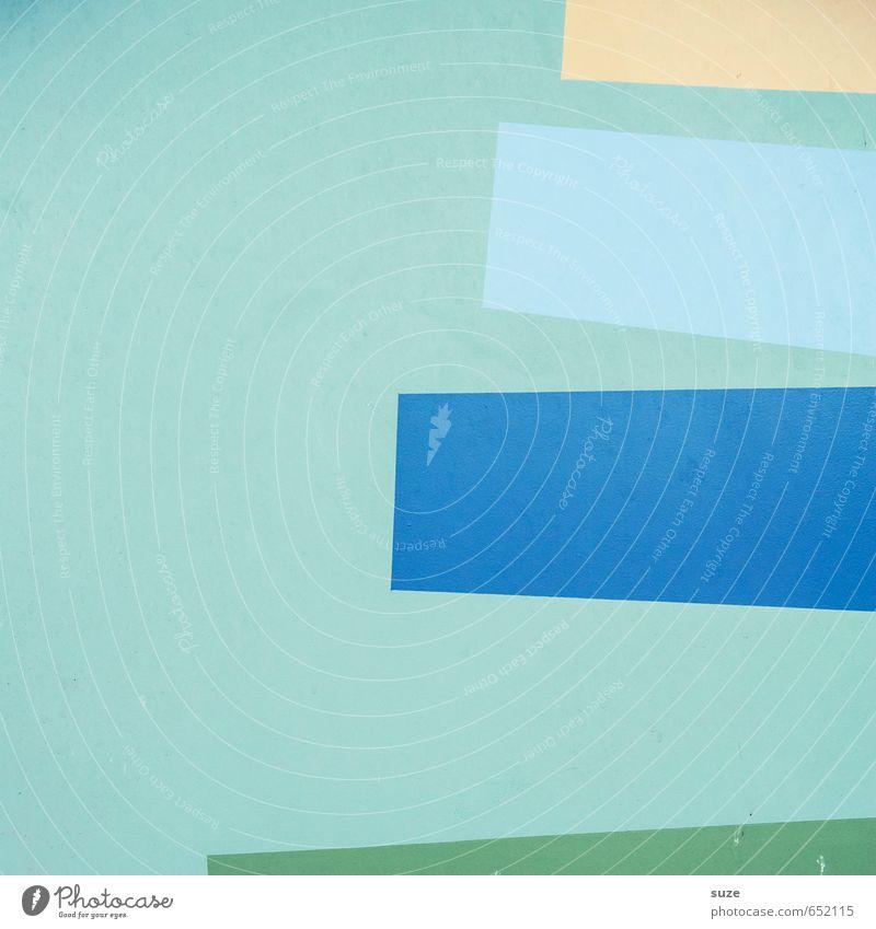 Graphic 2.3 blau grün gelb Wand Mauer Stil Linie Kunst Hintergrundbild Fassade Lifestyle Design Ordnung modern einfach Kreativität