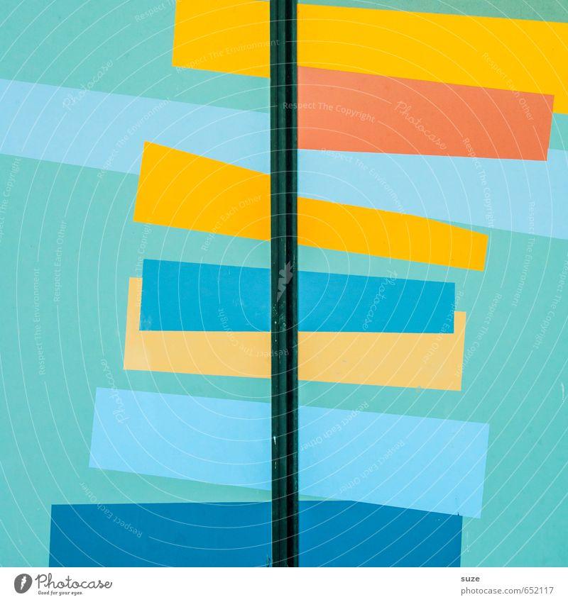 Graphic 2.0 Lifestyle Stil Design Kunst Mauer Wand Fassade Tür Linie Streifen eckig einfach modern blau gelb orange rot türkis Kreativität Ordnung Präzision