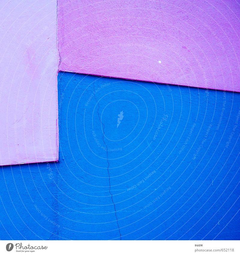 Graphic 1.9 Lifestyle Stil Design Kunst Fassade Linie Streifen eckig einfach modern blau violett rosa Kreativität Ordnung Präzision Wand Grafik u. Illustration