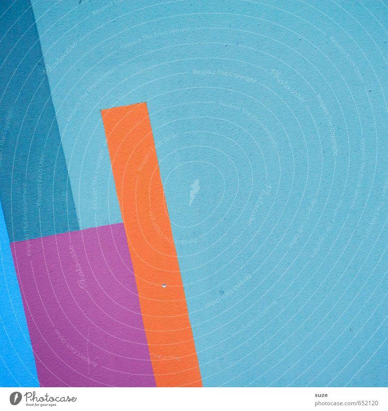 Graphic 1.2 Lifestyle Stil Design Kunst Mauer Wand Fassade Linie Streifen eckig einfach modern blau violett orange rosa Kreativität Ordnung Präzision