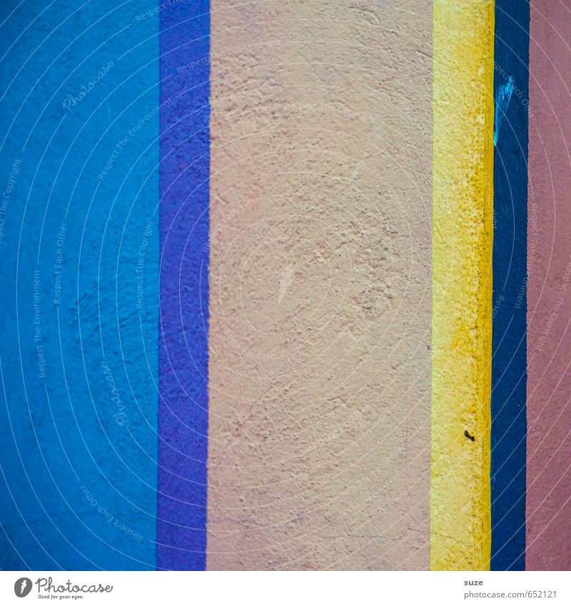 Graphic 2.2 blau gelb Wand Mauer Stil Linie Kunst Hintergrundbild Fassade Lifestyle Design Ordnung modern einfach Kreativität Streifen