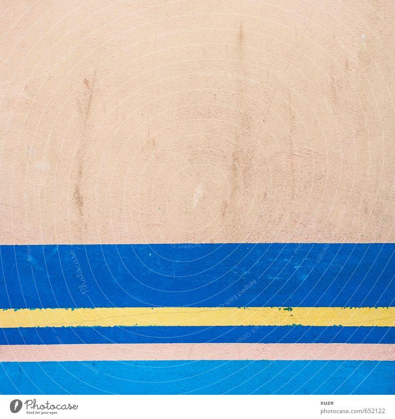 Graphic 1.8 blau gelb Wand Mauer Stil Linie Kunst Hintergrundbild rosa Fassade Lifestyle Design Ordnung modern einfach Kreativität