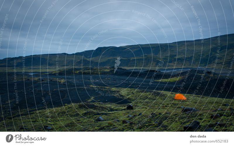 Camp at Eyjafjallajökull glacier Iceland Abenteuer Ferne Freiheit Expedition Camping Berge u. Gebirge wandern Klettern Bergsteigen Hügel Vulkan eyjafjallajökull