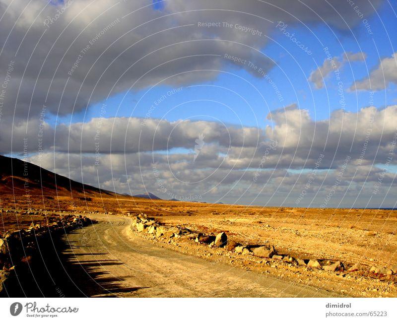just a desert Wolken Wüste Stein Himmel Berge u. Gebirge Straße