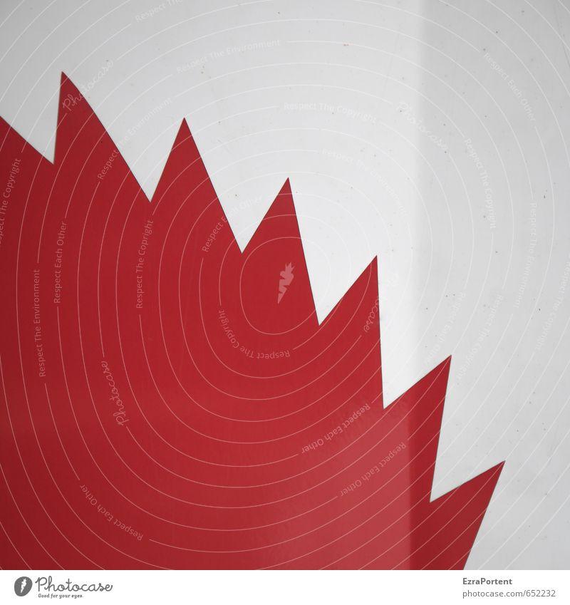 Kreissäge Säge Metall Zeichen Schilder & Markierungen Hinweisschild Warnschild Linie eckig Spitze rot weiß Struktur Grafische Darstellung graphisch Design