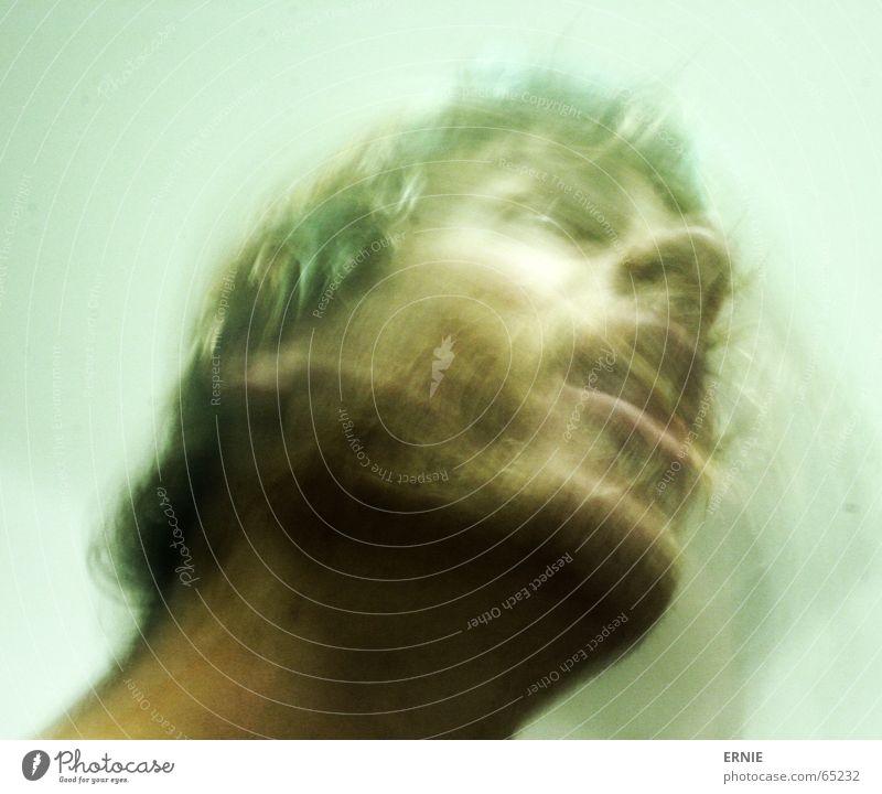 WischWasch Honk mehrfarbig oben offen Gelächter Selbstportrait Langeweile Prag Einsamkeit ich wie immer morph wisch wasch Bewegung Haare & Frisuren Mund Hals