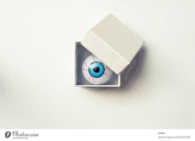 Überraschungs-Eye weiß nackt Auge lustig klein hell Freizeit & Hobby Design Dekoration & Verzierung verrückt einfach beobachten Kreativität Idee Coolness