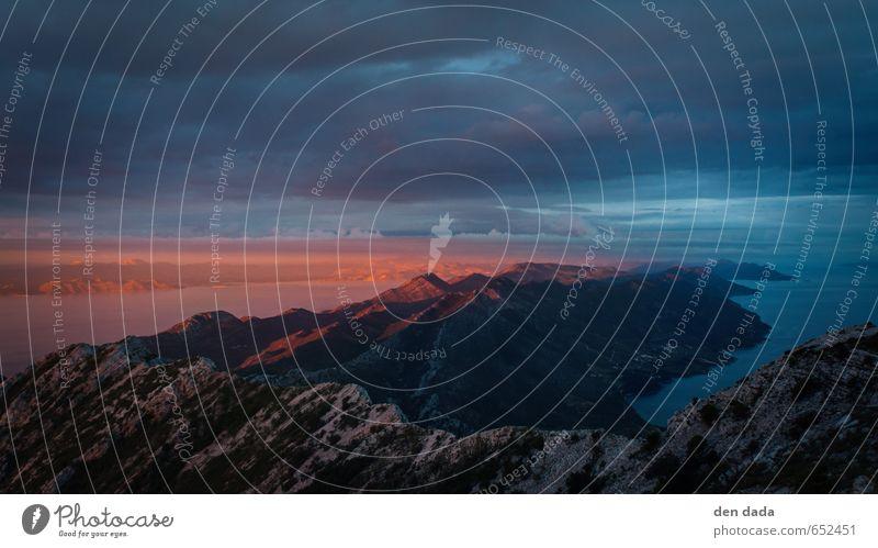 Halbinsel Peljecac vom Gipfel des Sv. Ilija Himmel Natur blau Meer rot Landschaft ruhig Wolken Ferne kalt Berge u. Gebirge Wärme Gefühle Herbst Küste Freiheit