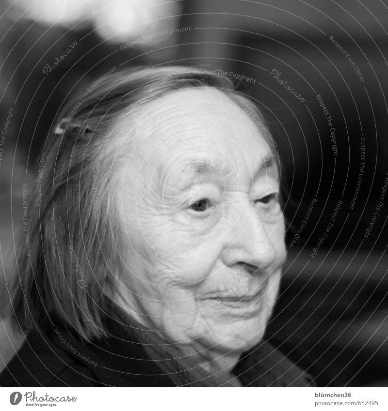 Ins Alter kommen Mensch feminin Frau Erwachsene Weiblicher Senior Großmutter Kopf Gesicht 1 60 und älter alt beobachten Lächeln Blick authentisch Freundlichkeit