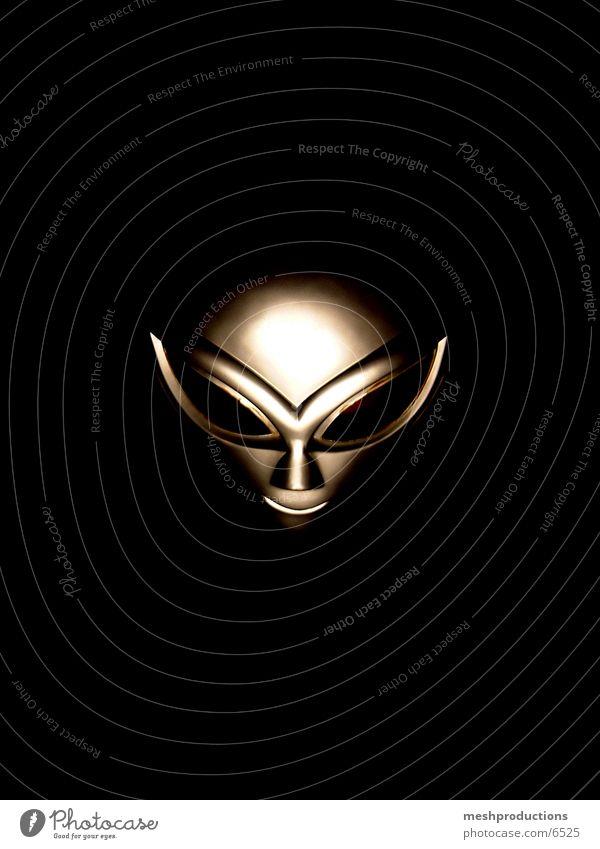 Alien mask Fototechnik Außerirdischer space carnival fun