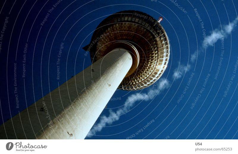 Haarscharf Himmel Sommer Berlin Flugzeug fliegen himmelblau