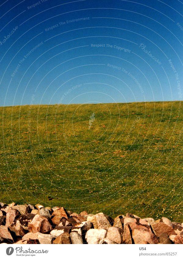 Aufgeteilt.... Himmel Gras Küste Stein Landkreis Friesland