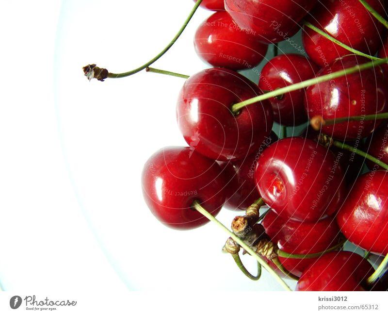 cherry cherry lady Kirsche rot süß grün Pflanze Lebensmittel weiß Sommer Baum Gastronomie Frucht Stengel Wut Herz Ernte