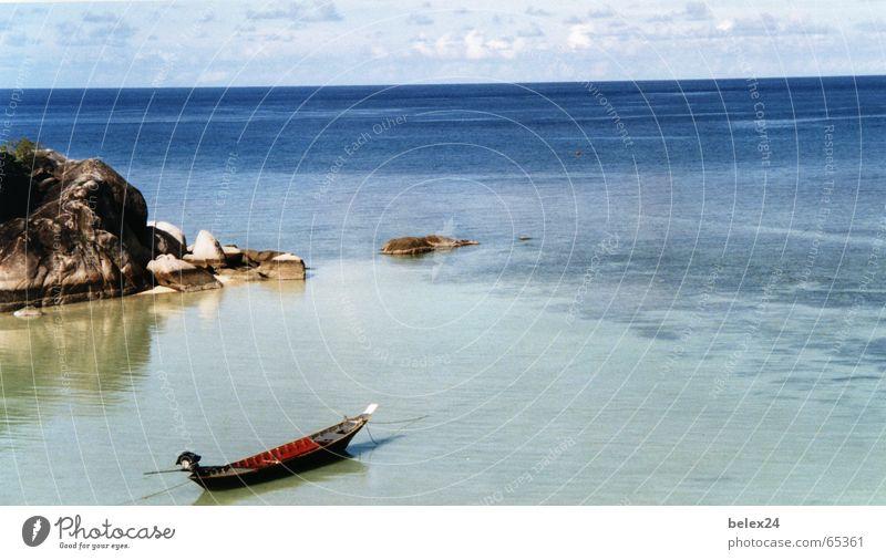 Genuss Meer ruhig Einsamkeit Wasserfahrzeug Insel Gelassenheit Erinnerung Thailand