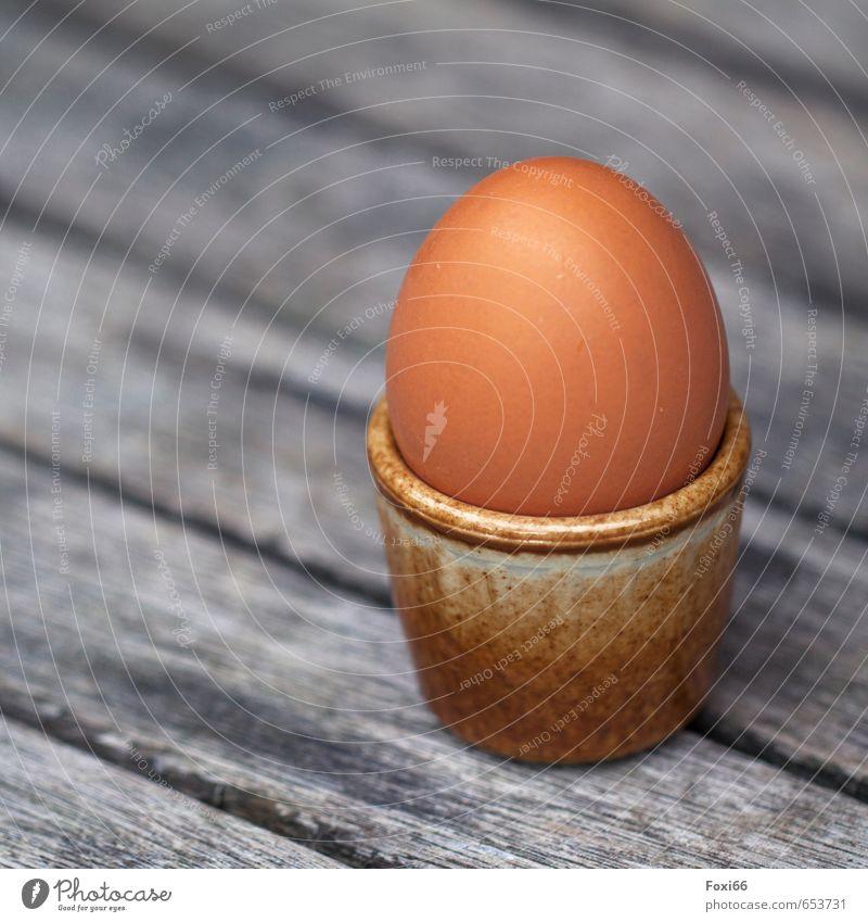 zum Frühstück ein Ei....? gelb Holz Gesundheit Essen natürlich braun Lebensmittel frisch weich fest Bioprodukte Vegetarische Ernährung Becher Fingerfood