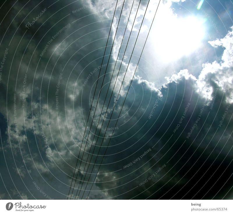 unter Strom Wolken Energie Elektrizität Industrie Sonnenenergie Sportveranstaltung Konkurrenz Wolkenhimmel