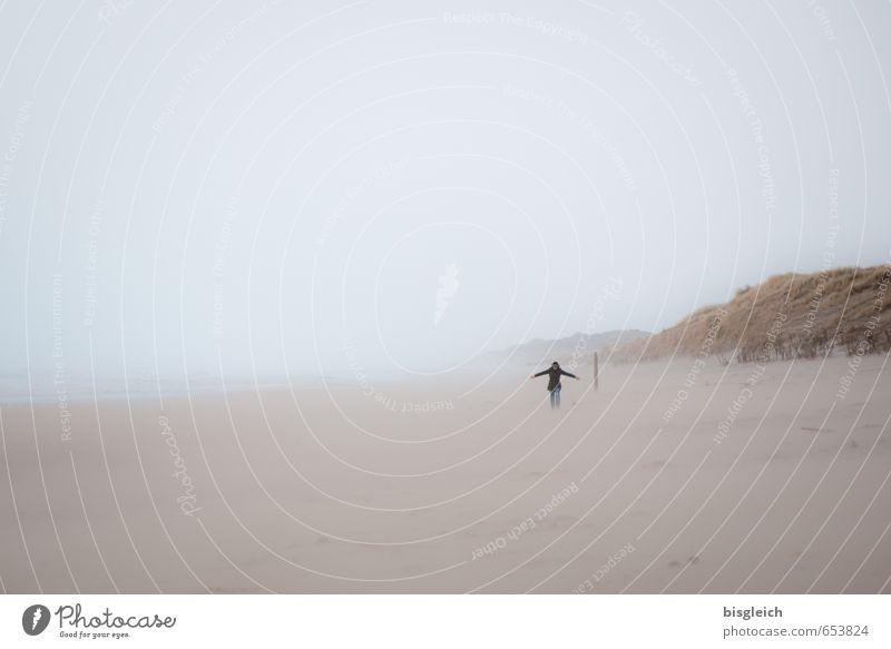 Sylt XII Ferien & Urlaub & Reisen Tourismus Strand Meer wandern Mensch 1 Umwelt Natur Landschaft Sand Himmel Nordsee Sandstrand Deutschland Europa laufen