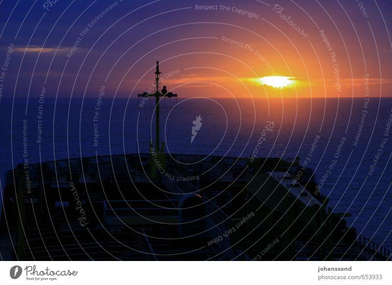 Wachablösung Ferien & Urlaub & Reisen blau Wasser Meer Einsamkeit Erholung Landschaft ruhig schwarz dunkel Stimmung träumen Zufriedenheit genießen
