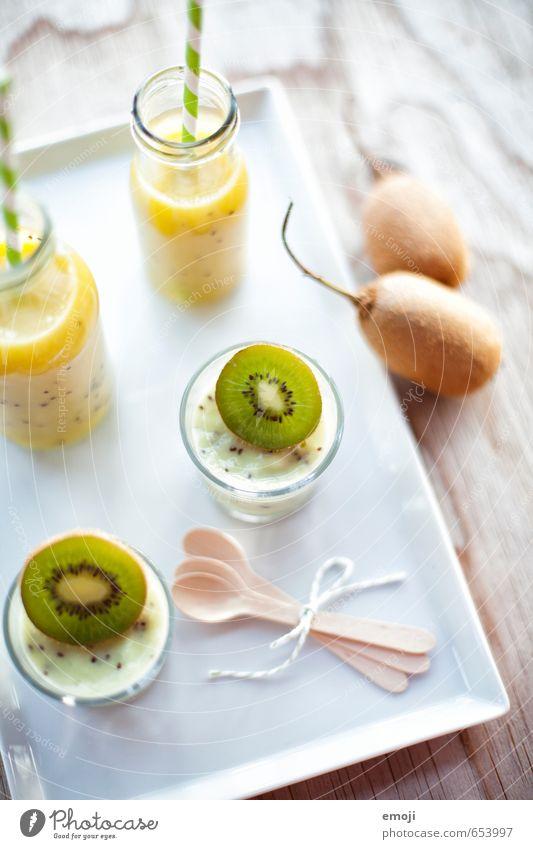 Frühling grün Gesundheit Frucht frisch Ernährung Getränk Speiseeis süß Süßwaren lecker Dessert Erfrischungsgetränk Saft Kiwi