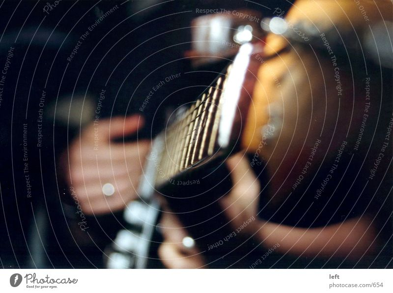 Gitarre Elektrogitarre Unschärfe Saite Musik Fototechnik
