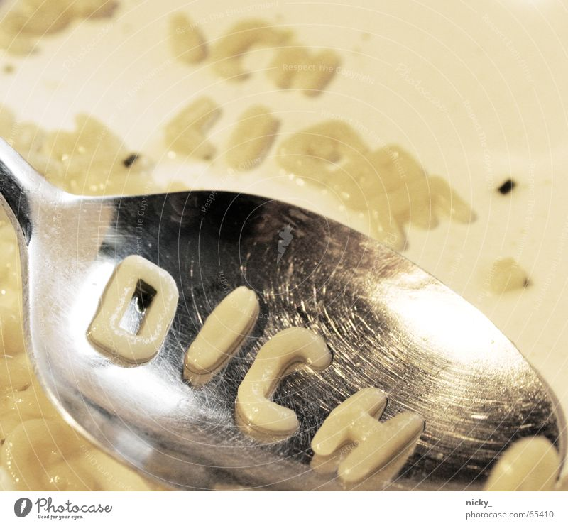 ich liebe dich Liebe Aktion Buchstaben Trommel lecker Nudeln Wort Löffel Suppe Tom Tom