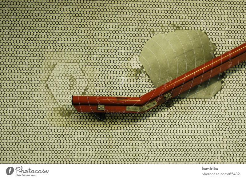 hand drauf auf den handlauf rot Wand Linie Kreis Treppe Fliesen u. Kacheln Paris U-Bahn Grafik u. Illustration Geländer Mosaik Frankreich