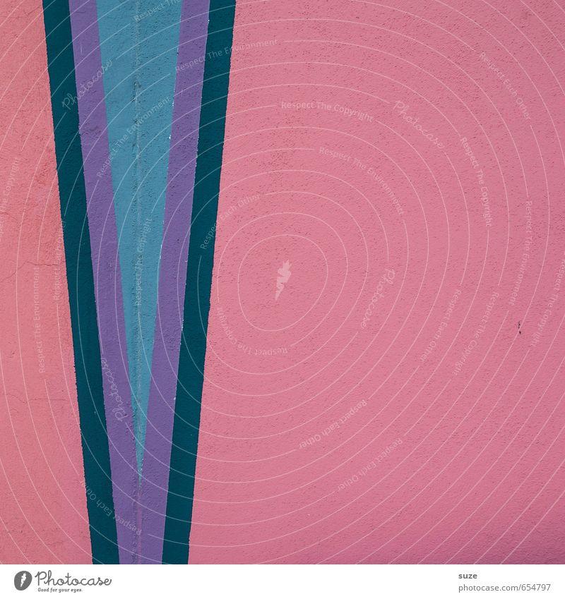 Graphic 2.1 blau Wand Mauer Stil Linie Kunst Hintergrundbild rosa Fassade Lifestyle Design Ordnung modern Spitze einfach Kreativität
