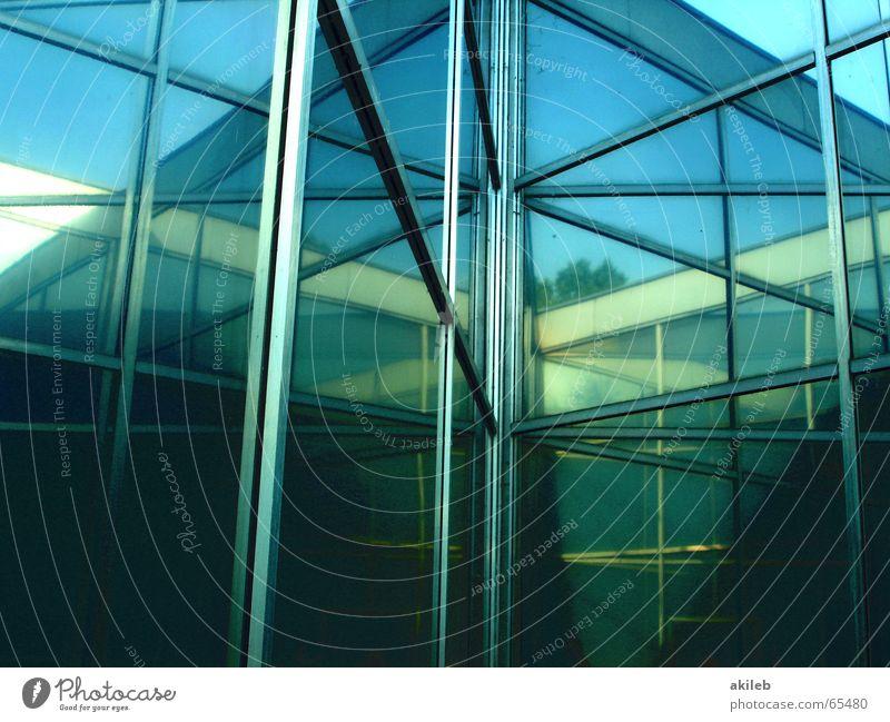 Spiegel grün Reflexion & Spiegelung Kunst Haus blau Selbstportrait Tür Außenaufnahme