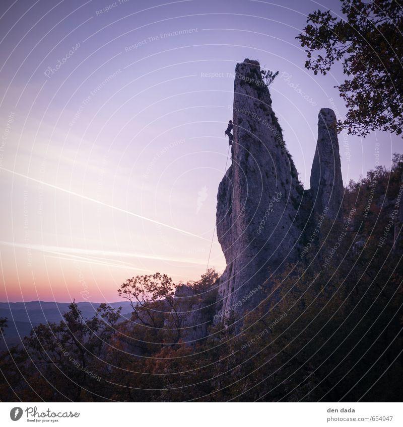 Klettern in Kroatien Mensch Natur Freude Ferne Berge u. Gebirge Sport natürlich außergewöhnlich Felsen ästhetisch Coolness einzigartig Abenteuer Freundlichkeit