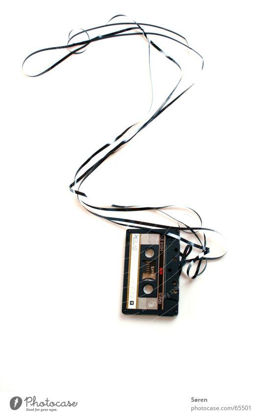 Fragezeichen Bandsalat Tonträger Magnet Musikkassette Hörspiel hören Symbole & Metaphern kasette casette 60min magnetband kasettenrekorder Ende Tod