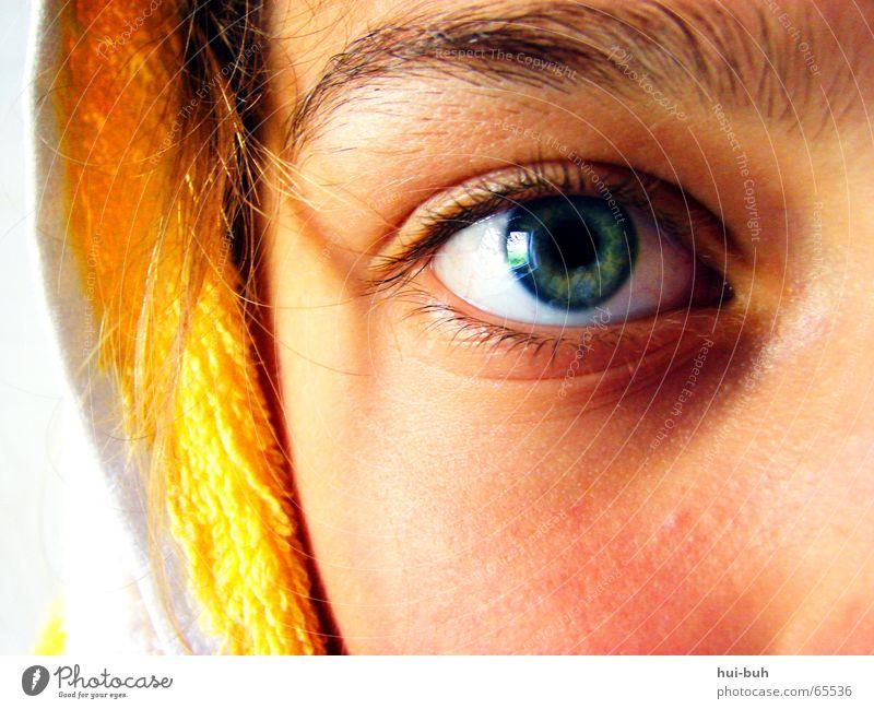 hartnäckig weiß grün blau Auge gelb Haare & Frisuren Nase Sicherheit Gesichtsausdruck Kapuze