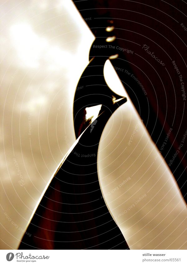 SPIRALE Spirale Reflexion & Spiegelung Drehung Himmel Makroaufnahme gehänge