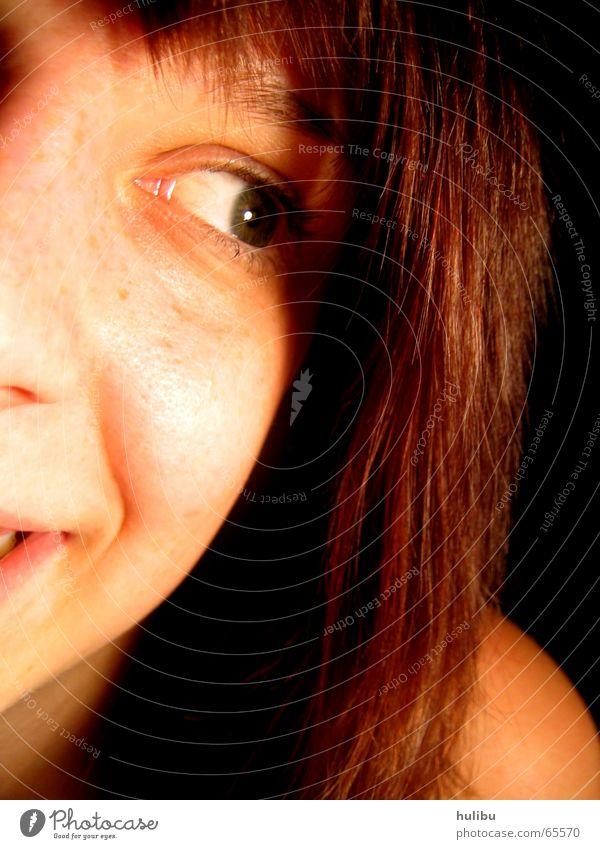 Ich hab dich gesehen! Frau Mädchen Gesicht Auge lachen Haare & Frisuren Mund Nase Lippen Wange Wimpern Pony