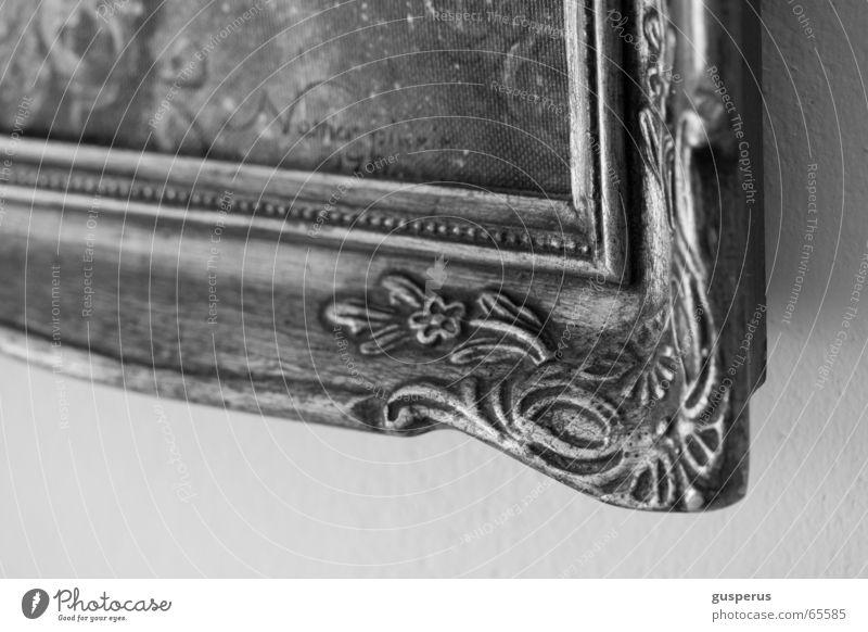 { original } alt Kitsch Dekoration & Verzierung Bild trashig antik Rahmen Ornament überladen